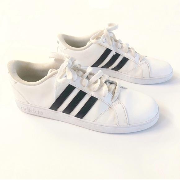 Adidas Neo Sneakers White w Black Stripes Size 7